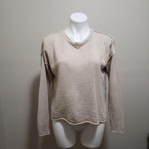 Eileen Fisher tan drop sleeve sweater